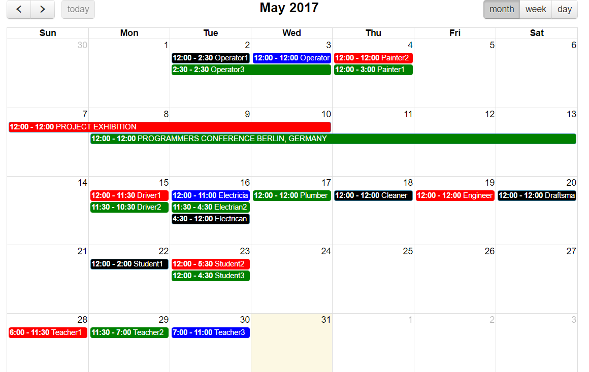 Calendar Application